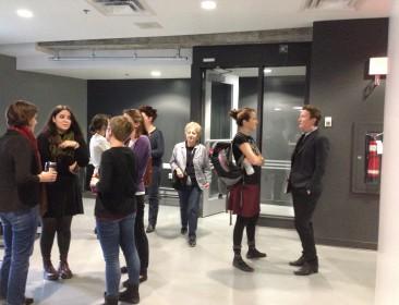 Reception for Teresa de Lauretis with seminar participants