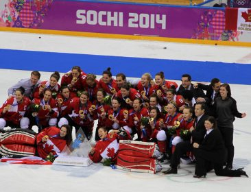 Gold Medal Canadian Women's Hockey Team, Sochi 2014 Olympics