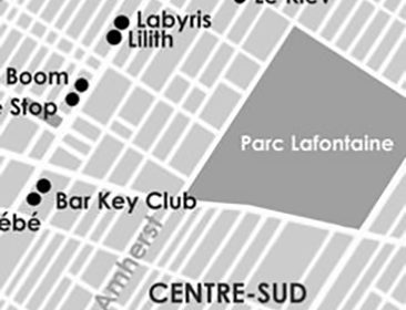 Street map of Plateau Mont-Royal